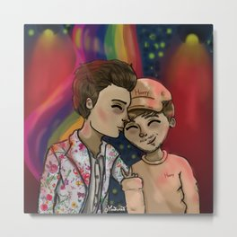 Supportive boyfriends Metal Print
