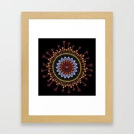 Mandala hand 1 Framed Art Print