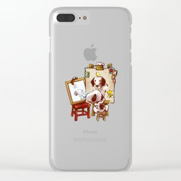 Triple Beagle Portrait Clear iPhone Case