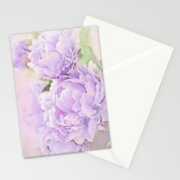 Lavender Peonies Stationery Cards