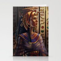 egyptian Stationery Cards featuring Egyptian by Ayu Marques
