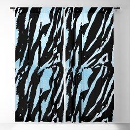 Tiger Blue Watercolor Gradient Blackout Curtain