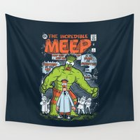 muppet Wall Tapestries featuring Incredible Meep by Hoborobo