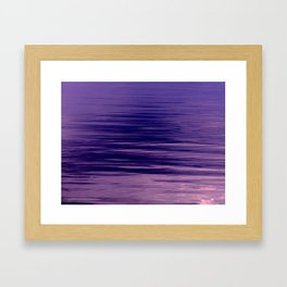 Movement of Water on a Calm Evening- Violet Abstraction Framed Art Print