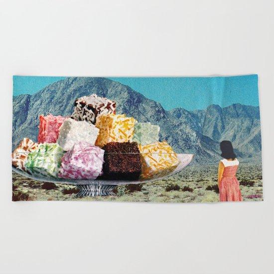 Desert Dessert Beach Towel