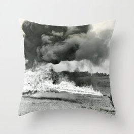Flame Throwing Troops Throw Pillow