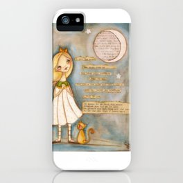 I See the Moon - Poetry print iPhone Case