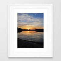 minnesota Framed Art Prints featuring Minnesota Sunrise by Heartland Photography By SJW