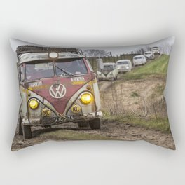 Offroad with vintage cars Rectangular Pillow