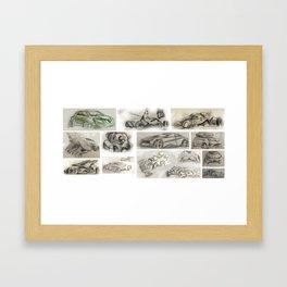 car design sketches Framed Art Print