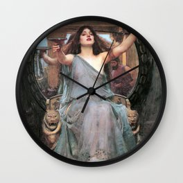 Circe offering the Cup to Odysseus - John William Waterhouse Wall Clock