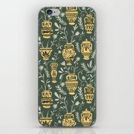 Greek vases with flowers iPhone Skin