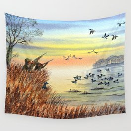 Duck Hunting With Dad For Goldeneye Wall Tapestry