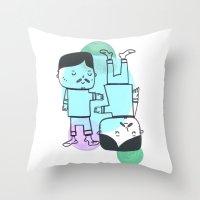 best friends Throw Pillows featuring Best Friends by Silva Ware by Walter Silva