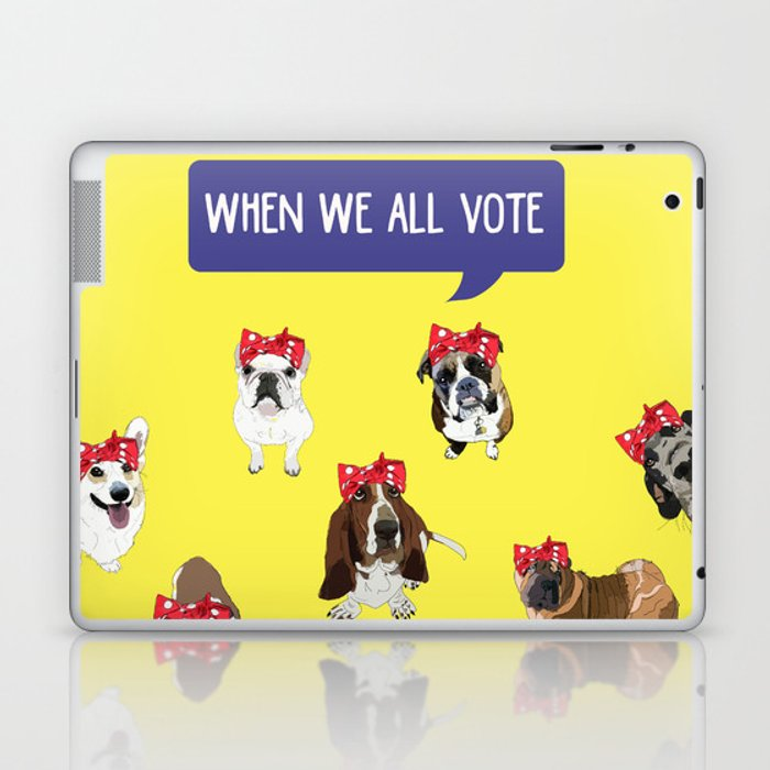 Political Pups - When We All Vote Laptop & iPad Skin
