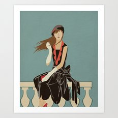Oh to be French in the 30's Art Print