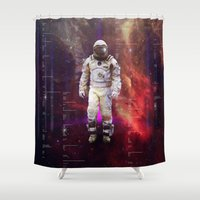 interstellar Shower Curtains featuring Interstellar by Tony Vazquez