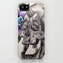 Skull and Rose iPhone Case