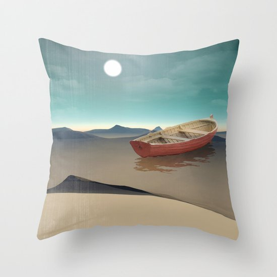 at sea in a void Throw Pillow