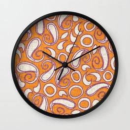 ziya tangerine damson Wall Clock
