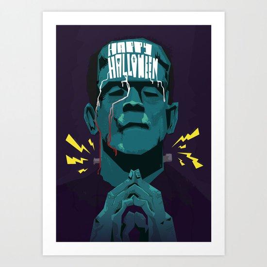 Halloween '13 Frankie Art Print