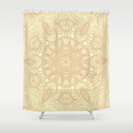 Gloria Tumbleweed Mandala With Corn Field Backdrop Shower Curtain