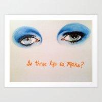 david bowie Art Prints featuring David Bowie by Alyssa Szatny