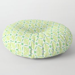 Abstract [GREEN] Emeralds Floor Pillow