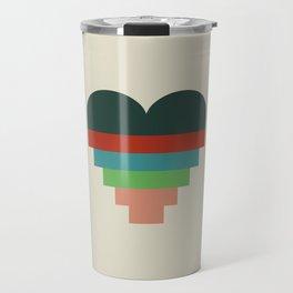 heart geometry Travel Mug