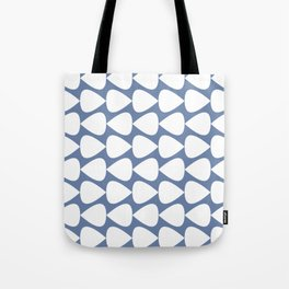 Plectrum Geometric Pattern in White and Beach House Blue  Tote Bag