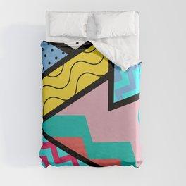 80s Memphis Design Pattern Duvet Cover