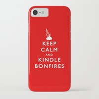 kindle iPhone & iPod Cases featuring Keep Calm & Kindle Bonfires by Zach Shonkwiler