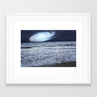 rileigh smirl Framed Art Prints featuring Galaxy Sky by Rileigh Smirl