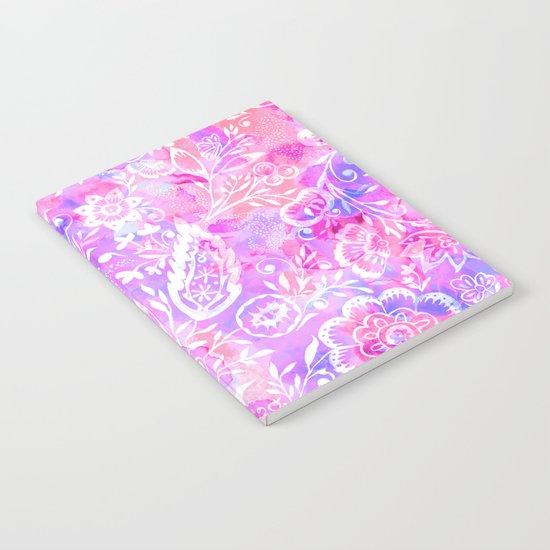 Feminine Folk Floral Notebook