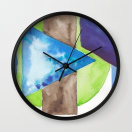 180819 Geometrical Watercolour 8| Colorful Abstract | Modern Watercolor Art Wall Clock