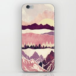 Burgundy Hills iPhone Skin
