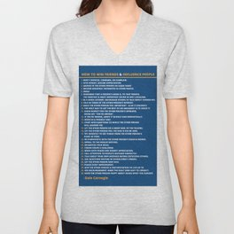 Dale Carnegie How to Win Friends and Influence People Quote Poster Unisex V-Neck