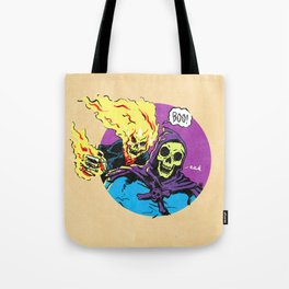 Ghost Rider and Skeletor Tote Bag