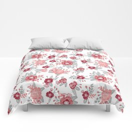Floral Bama alabama crimson tide pattern gifts for university of alabama students and alumni Comforters