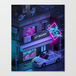 Synth Store Canvas Print
