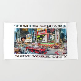 Times Square NYC (poster edition) Beach Towel