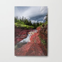 Red Rock Canyon Photography | Waterton-Alberta | Colourful | Nature | Landscape Art Print | Forrest Metal Print