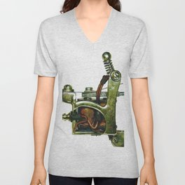 Machine ten Unisex V-Neck