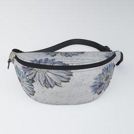blue daisies par avion Fanny Pack