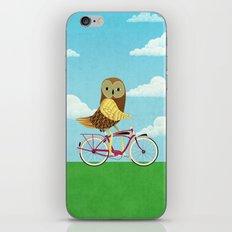 Owl Bicycle iPhone & iPod Skin