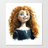 merida Canvas Prints featuring Merida by Alex Nunez