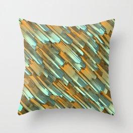 Rusty edges Throw Pillow