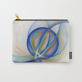 Colorful Design, Modern Fractal Art Carry-All Pouch