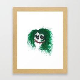 The Joker. Why so serious? Framed Art Print