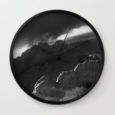 Kissing Camels B&W Wall Clock